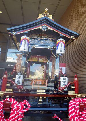 鯖江ブランドを発信する「さばえものづくり博覧会2012」の越前塗山車展示はみごとです!