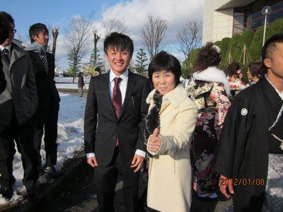 鯖江高校陸上部出身窪田忍君とリフォーム母さんです!