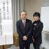 福井県立大学 地域経済研究所 退官記念フォーラム直前の小川教授とリフォーム母さん!